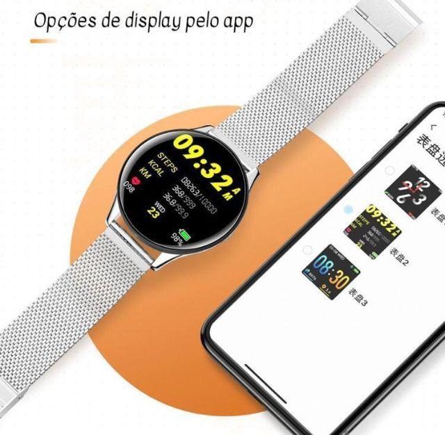 Relógio SmartWatch SN58 Tela de Vidro Temperado À Prova D'água (Android e iOS) - Foto 3