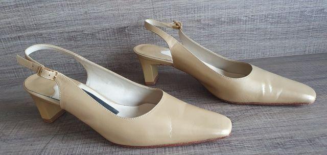 Sapato scarpin 35 bege couro