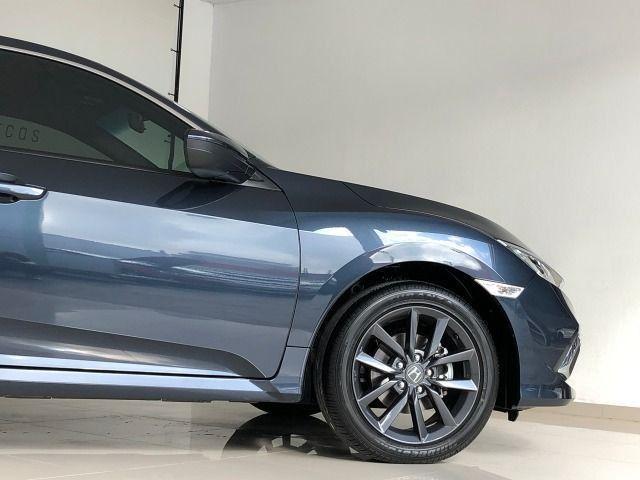 Honda Civic Lx 2.0 Cvt Flex Azul Cósmico Único dono - Foto 5