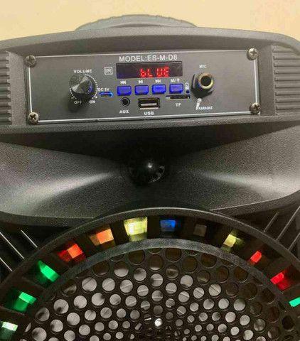 Caixa de Som 2000W Feiyipu Bluetooth Microfone e Controle! - Foto 2