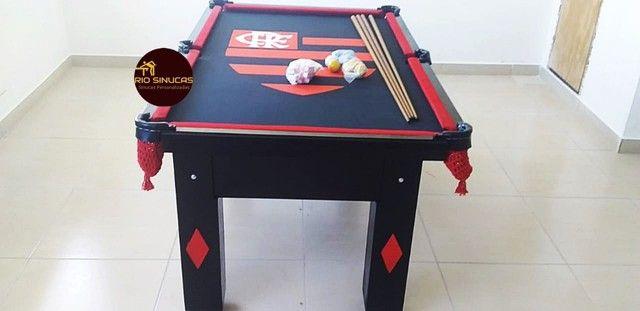 Sinuca Flamengo Multi Uso Ping Pong 2 Em 1 - Foto 5