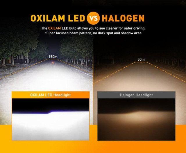 farol led H4,  cor 6000K, 16.000 lumens (8 mil cada) - Foto 5