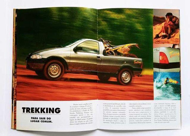 Fiat Strada LX, Trekking e Working - catálogo, folder, brochura - ótimo estado - Foto 3