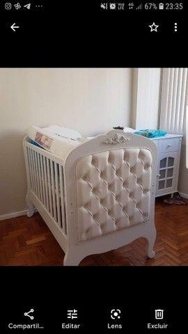 Berço que vira mini cama da Puppi Móbile, muito bem conservado.  - Foto 4