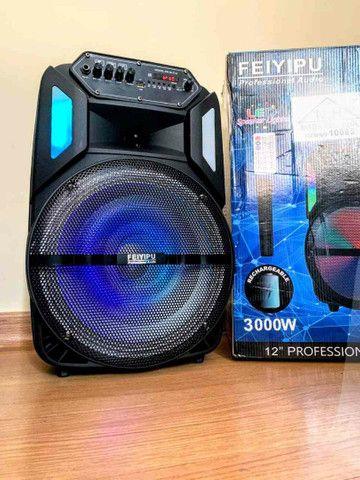 Caixa de Som 3000W Bluetooth Microfone S/ fio e Controle Remoto! ??
