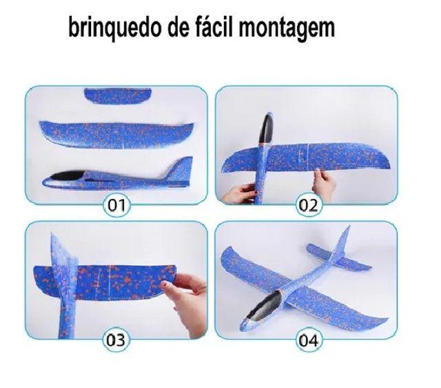 Avião de Brinquedo Planador De Isopor Flexível Com Led - Foto 4