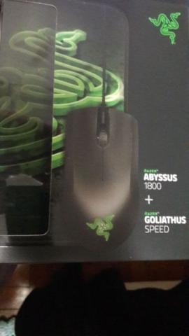 Mouse Gamer Razer Abyssus Sensor 3G Com Mousepad Goliathus Small Speed