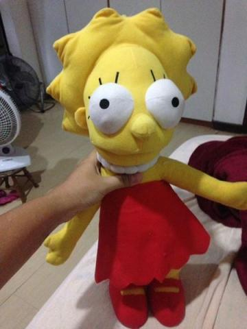 Lisa os simpsons urso de pelucia