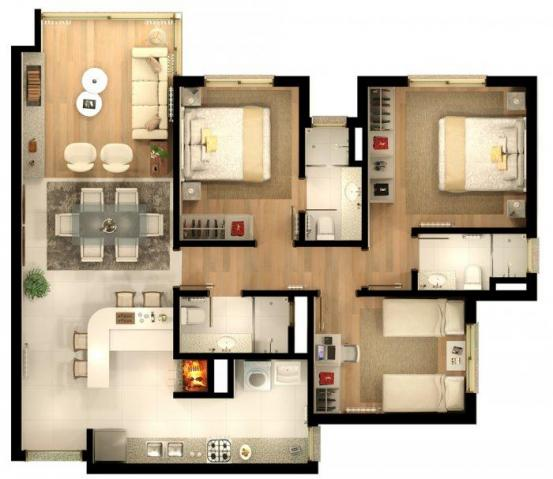 Apartamento com 2 dormitórios à venda, 86 m² por r$ 873.690,41 - bavária - gramado/rs - Foto 13