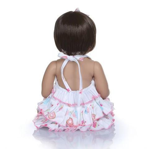 Bebê Reborn 100% Silicone + Acessórios + BRINDE - 10x sem juros - Foto 4