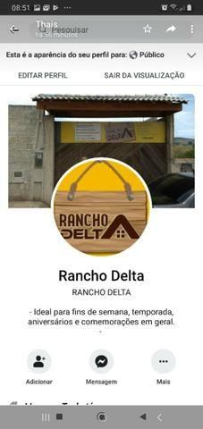 RANCHO DELTA - aluguel - INAUGURAÇÃO!!