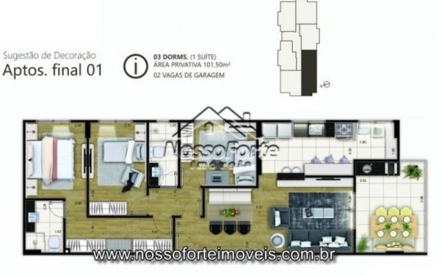 Lançamento Apartamento no Canto do Forte em Praia Grande - Foto 10
