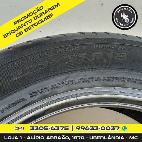 Vendo 2 Pneus 225/55 R18 Seminovos Michelin - Foto 5