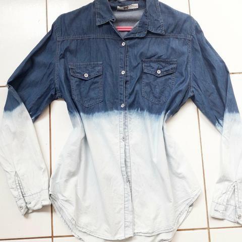 5fe71e273c Camisa Jeans Degradê GG
