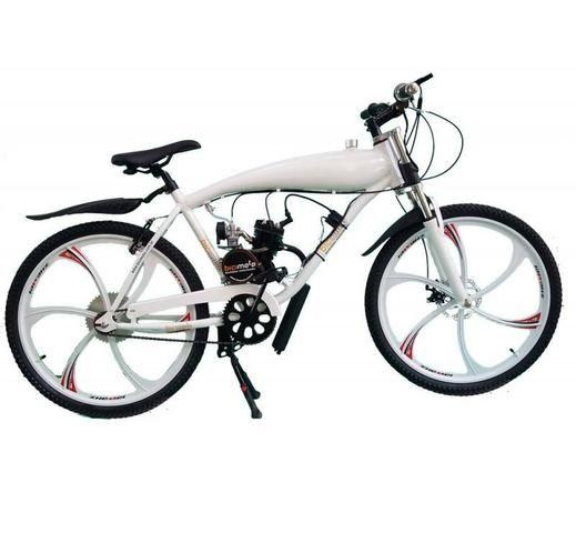 a9e62d627 Bicicleta Motorizada 80cc 2 Tempos - Alumínio com Tanque Embutido ...