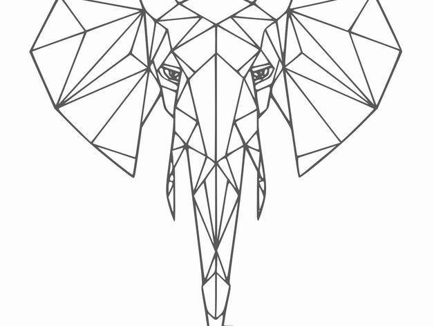 Quadro Aplique Escultura 2d-diversos Animais Geométricos 3mm - Foto 5