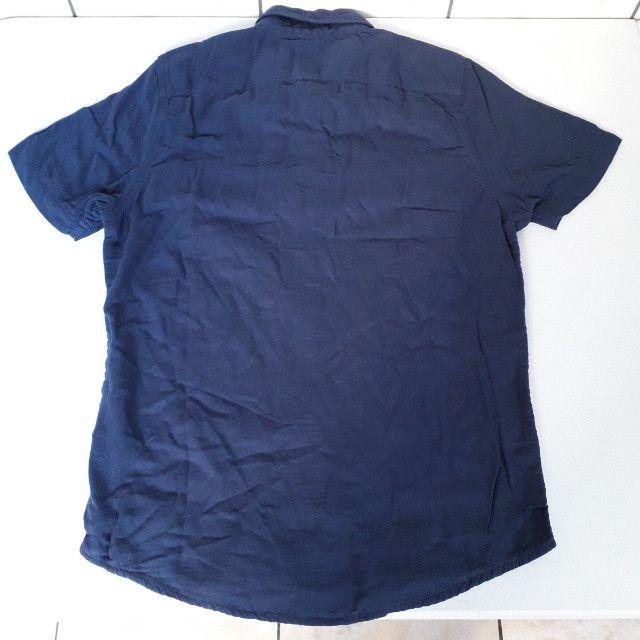 Camisa Polo Hollister Azul Masculino Original Nova. (Tamanho: M) - Foto 2
