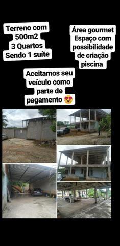 Terreno 500m² com casa / novo brasil