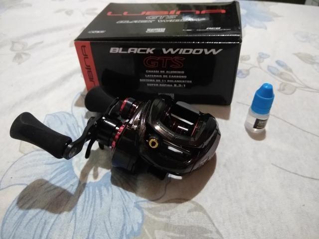 Carretilha lubina Black widow direita - Foto 6