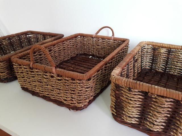 Centro de mesa, jarro, vaso, cesta rústica - Foto 4