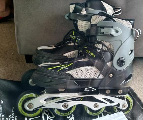 Roller patins ajustáveis - Foto 3