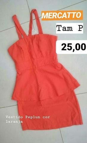 1 Vestido peplun marca MERCATTO tam P original cor laranja - Foto 2