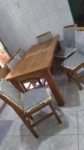 Mesa de madeira de Lei maciça - Foto 3