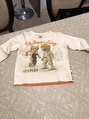 Kit 3 camisetas Tam 2 - Foto 4