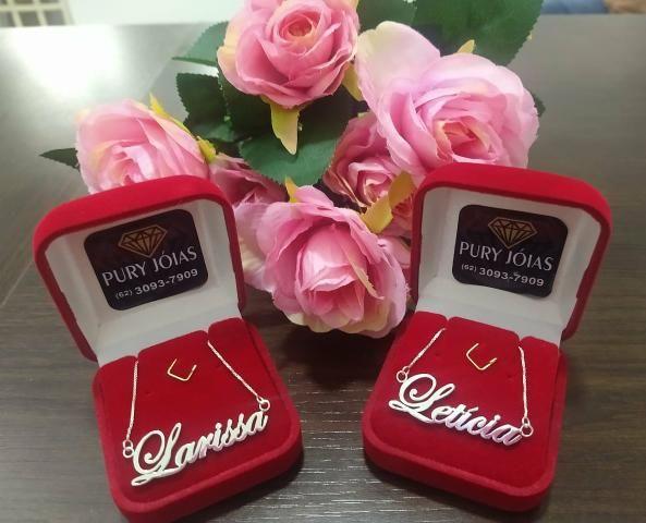Colar Personalizado de Prata Dia dos Namorados