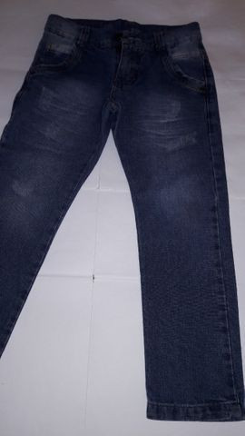 Calça Jeans Infantil Masculina Marca Mox - tam 6 semi nova excelente estado - Foto 3