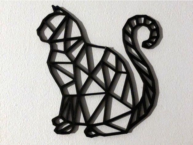 Quadro Aplique Escultura 2d-diversos Animais Geométricos 3mm - Foto 3