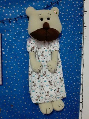 Urso porta fraldas ou porta pijamas