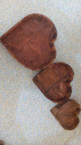 Coração em madeira - Foto 2