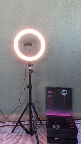 Ring light 26cm + tripé de 1.70 M - Foto 2