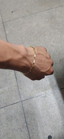 Pulseira de ouro 18 k - Foto 5