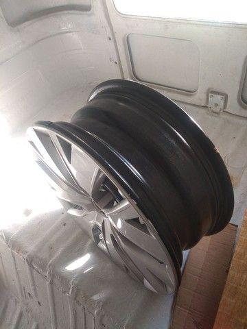 Jogo de roda ferro com calota original VW - Foto 5