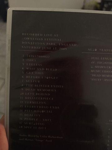 Slipknot live At download 2009 usado - Foto 3