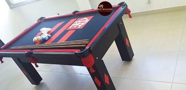 Sinuca Flamengo Multi Uso Ping Pong 2 Em 1 - Foto 6