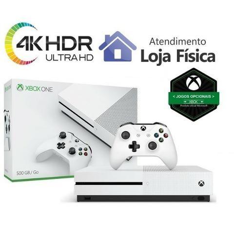 Xbox One S 4K com 500gb Opcional 1TB Forza 3 7 Fifa 18 MineCraft Lego BF 1 GtaV One X