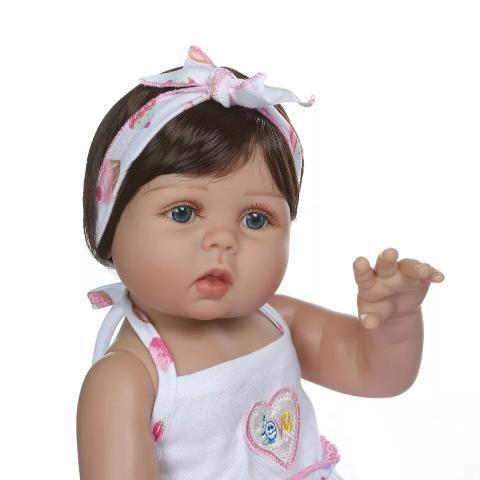 Bebê Reborn 100% Silicone + Acessórios + BRINDE - 10x sem juros - Foto 3