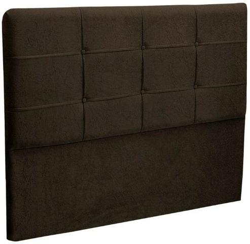 Cabeceira Casal Queen Cama Box 1,60m e 1,40m London Chocolate - Foto 2
