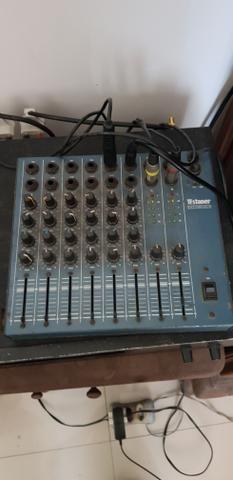 Caixa de som 2 mesa de som 1 e amplificador - Foto 4