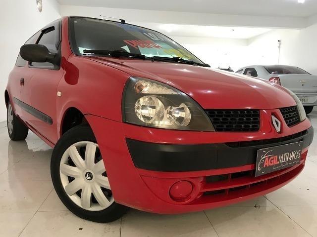 Renault Clio Authentique 1.0 Único dono 2004 Vermelho - Foto 2