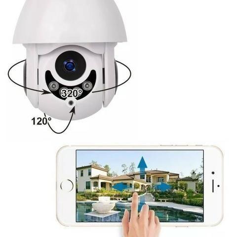 Camera Speed Dome IP Giratória HD Wifi Externa Segurança Noturna Resiste Agua - Foto 4