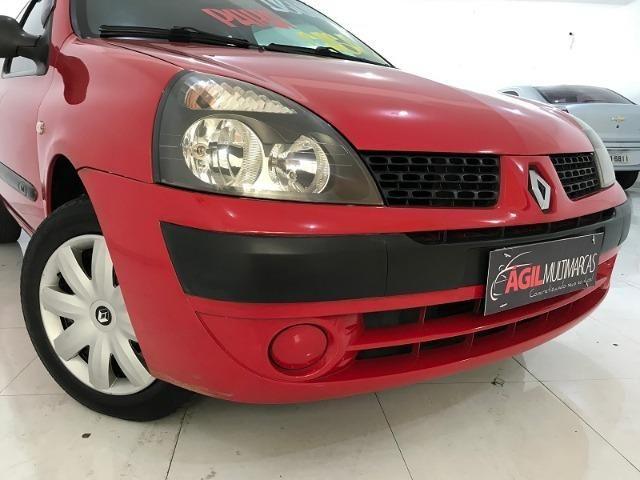 Renault Clio Authentique 1.0 Único dono 2004 Vermelho - Foto 9