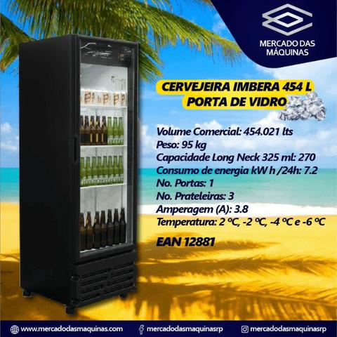 Imbera cervejeira 454L porta cega ou vidro - Foto 4