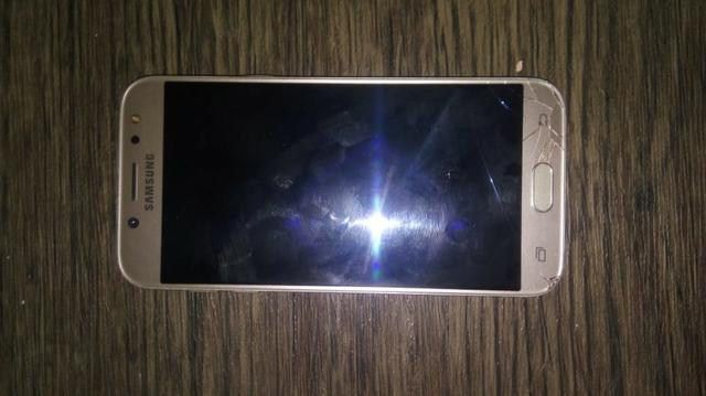 J5 pro, com trinco na tela Mais n interfere no uso do aparelho