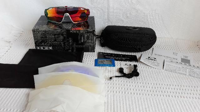 a47b6c16d Óculos Oakley Jawbreaker Para Ciclismo Verde/Vermelho Prizm - Novo e  Importado - Foto 6