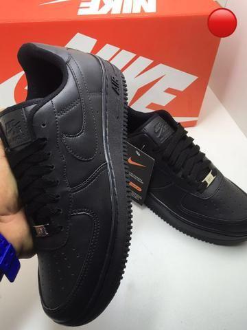6d093569a61 Tênis Nike air force 1 branco preto feminino masculino promoção ...