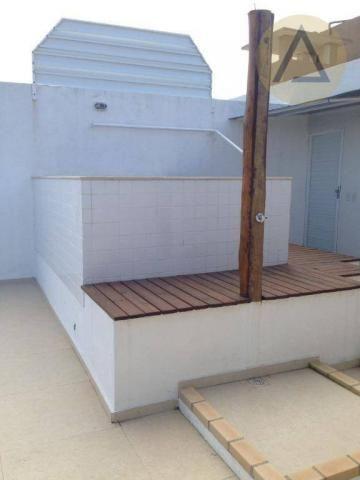 Cobertura com 2 dormitórios à venda, 122 m² por r$ 370.000 - lagoa - macaé/rj - Foto 9
